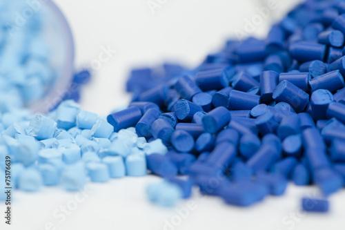 Leinwandbild Motiv plastic granules