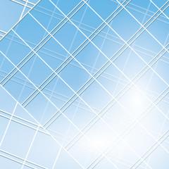 blue vector windows on modern buildings