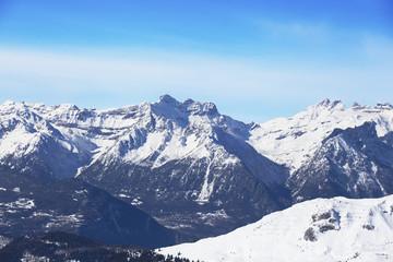 Distant mountain.