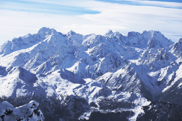 Rugged mountains.