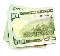 One hundred dollars banknotes