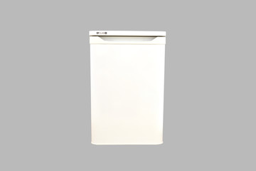refrigerator isolated on a grey background