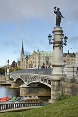 Djurgardsbron (The Djurgarden Bridge) in Stockholm. Sweden