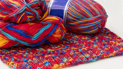 Two threads knitting fabric
