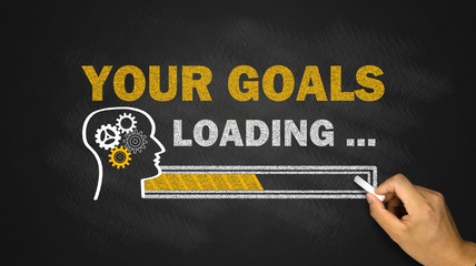 your goals loading concept
