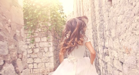 Dramatic Slow Motion Running Bride Princess Vintage Wedding