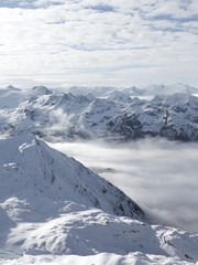 clouds in the Alps