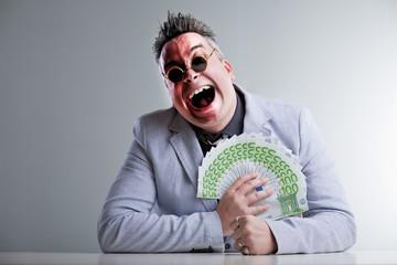 buisness man with money