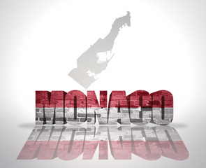 Word Monaco on a map background
