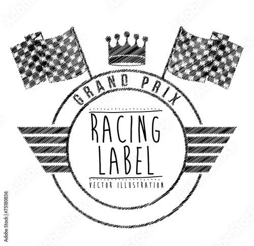 Foto op Plexiglas F1 Race design, vector illustration.