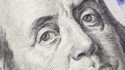 President of America Ben Franklin close-up on the new one