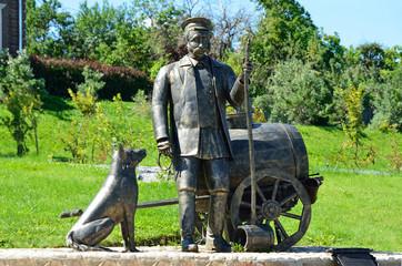 """""""Водовоз"""", скульптура в городе Коломне"""