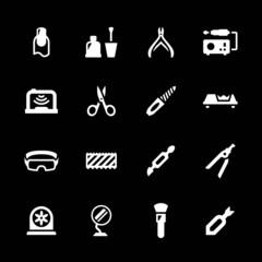 Set icons of manicure