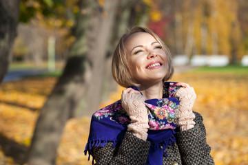 Young beautiful blonde woman