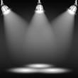 Zdjęcia na płótnie, fototapety, obrazy : Illuminated Floor In Dark Room