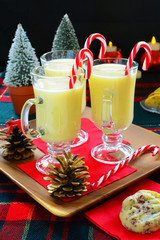 Eggnog and Christmas cookies