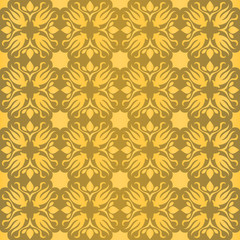 Seamless geometric baroque pattern gold