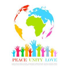 Peace earth icon