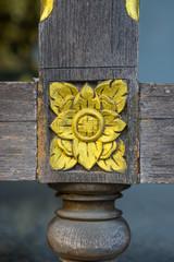 Golden flower sculpture