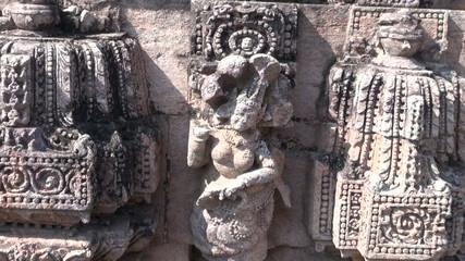 carvings   in  ancient Surya Temple Konark, Odisha, India