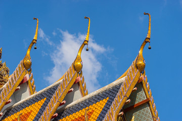 Thai temple roof top