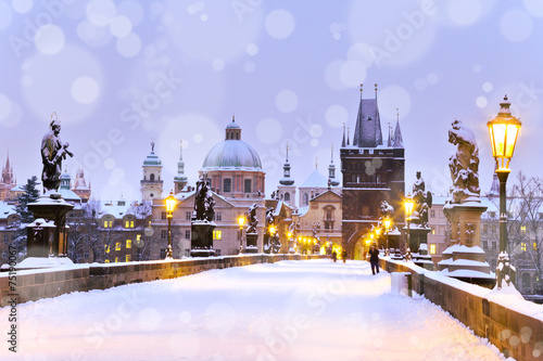 Foto op Canvas Artistiek mon. Charles bridge, Old Town bridge tower, Prague (UNESCO), Czech r