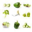 composition légumes verts