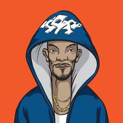 cartoon hip-hop performer