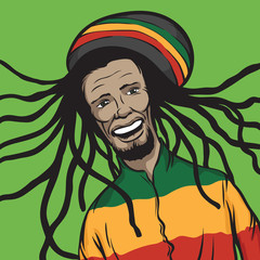 reggae man smiling