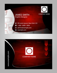 Business Card Set with arrows