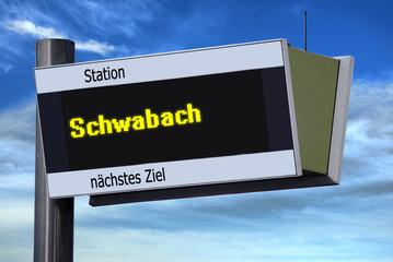 Anzeigetafel 6 - Schwabach