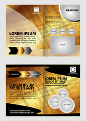 Golden Brochure Template