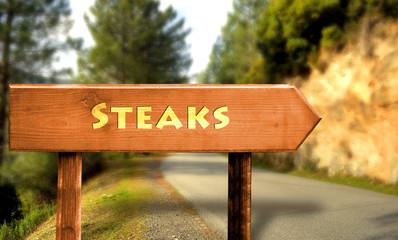 Strassenschild 31 - Steaks