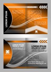 Orange vector brochure booklet cover design templates collection