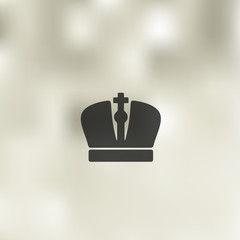 crown icon on blurred background