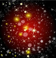 Star background dark red