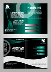 Template with business brochure