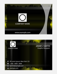 Templates visit card for corporate style