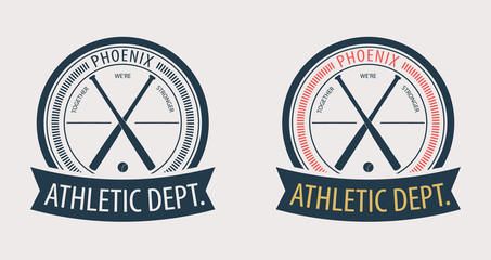 Phoenix Athletic Dept. emblem vector illustration, eps10