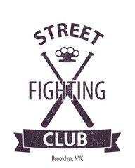 Street Fighting Club Brooklyn vector illustration, eps10