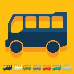 Flat design: bus