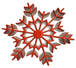 Red snowflake icon