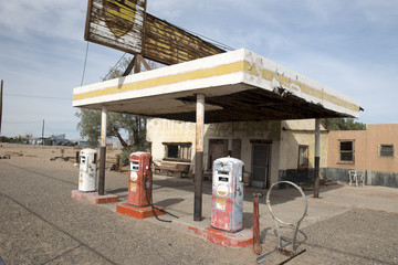 Old pump station on Route 66