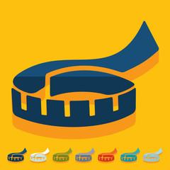 Flat design: tape measure