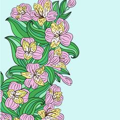 flower strip against (vector)