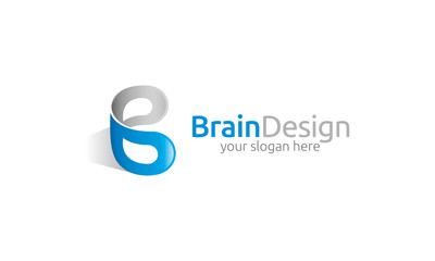 Brain Design Logo