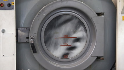 Rubber industry - wash machine in a factory