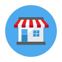 Shop Flat Circle Icon
