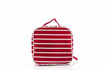 Red makeup bag.