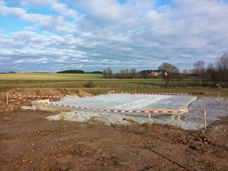 Bodenplatte Fundament für Hausbau
